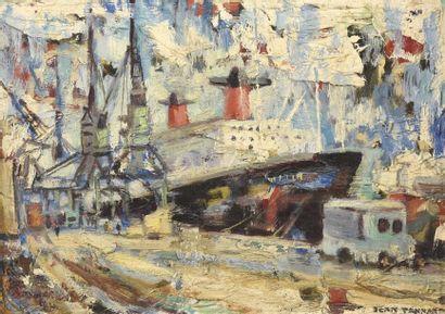 Jean TANNANT (XXe siècle) Chantier naval...
