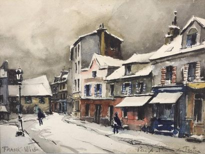 Frank WILL (1900-1951) La place du Tertre...