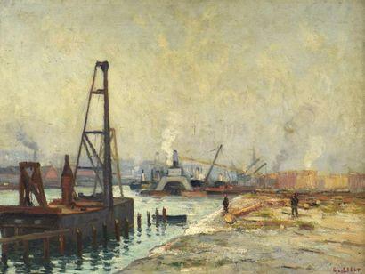 Narcisse GUILBERT (1878-1942) Zone portuaire...
