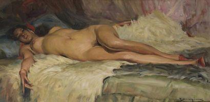 Richard DURANDO-TOGO (né en 1910) Femme nu...
