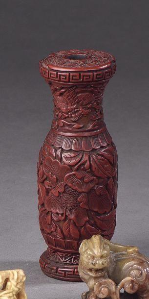 CHINE - XVIIe siècle Porte-baguettes d'encens...