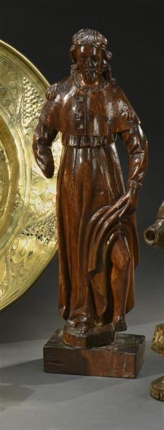 Saint Roch Sculpture en noyer sculpté XVIIIesiècle...