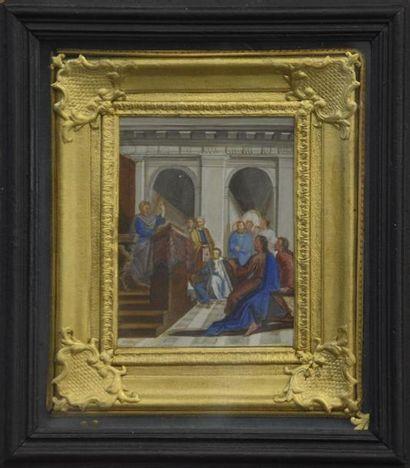 Ecole FRANCAISE du XVIIIe siècle Deux scènes...