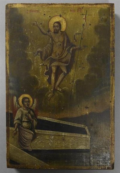 GRECE - XIXe siècle La résurrection du Christ...
