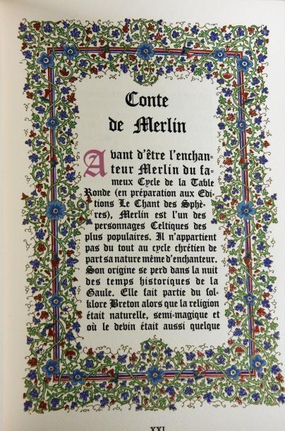 BOUCHER (LUCY) UN CONTE DE MERLIN. NICE, LE CHANT DES SPHÈRES, 1966. Un volume, grand...