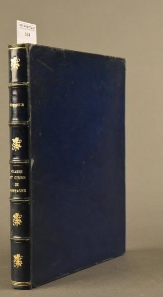 DEMOLE (Edouard) CHASSE ET GIBIER DE MONTAGNE. PARIS, DUREL, 1948. Un volume, in-4,...