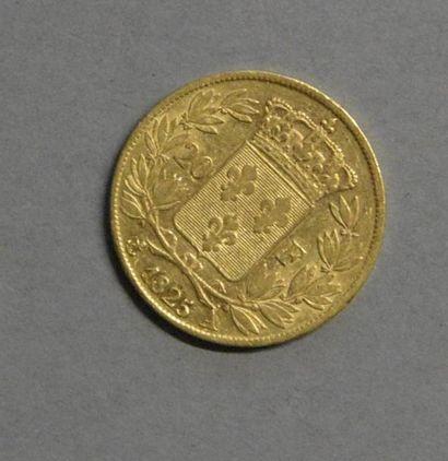 Monnaies - Médailles - Sceaux Charles X: 20 francs 1825 A, TB