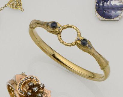 Bracelet jonc en or jaune 18K (750/°°) à...