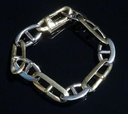 Bracelet en or de deux tons 18K (750/°°)...