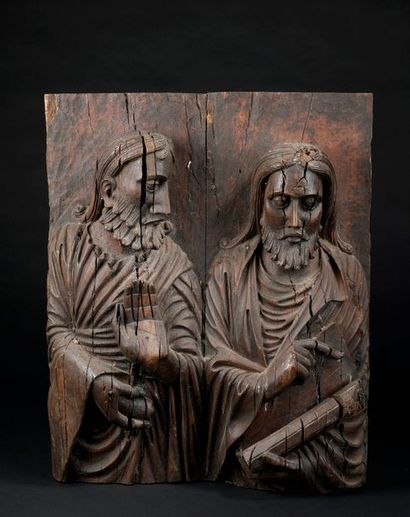 Le christ et un apôtre (ou deux apôtres ?)...