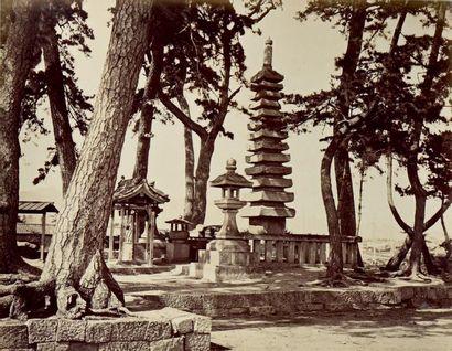 JAPON, 1876 Remarquable album in-folio réunissant...