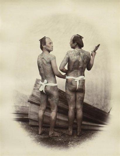 Félice BEATO (1832-1909). Views of Japan,...