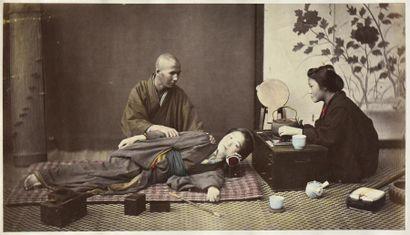 Félice BEATO (1832-1909). Views of Japan, circa 1868/1870 Sublime album contenant...
