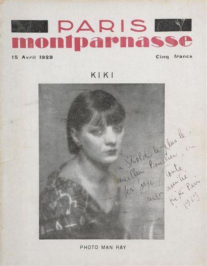 * Revue PARIS MONTPARNASSE du 15 Avril 1929 Kiki de Montparnasse par Man Ray en...