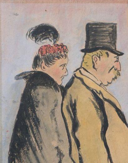 Kees VAN DONGEN (1877-1968) * Théâtre «Deux places et un sourire s'est combien» Aquarelle...