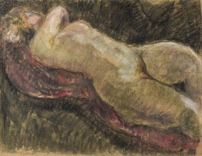 Pierre COMBET-DESCOMBES (1885-1966) Nu couché,...