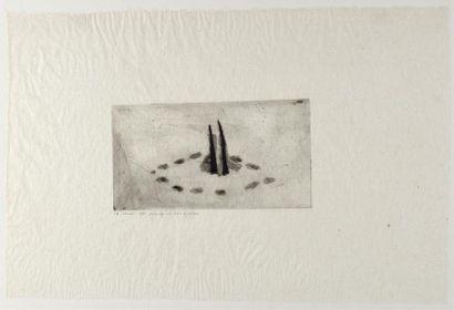 Christine CROZAT (née en 1952) Paysage du...