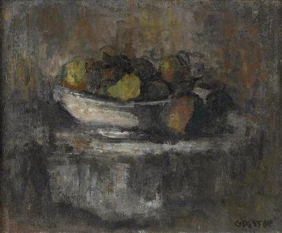 Gilbert PASTOR (1932-2015) Coupe de fruits...