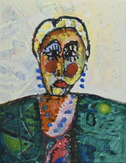 Armand AVRIL (né en 1926) Portrait de Jeannot...