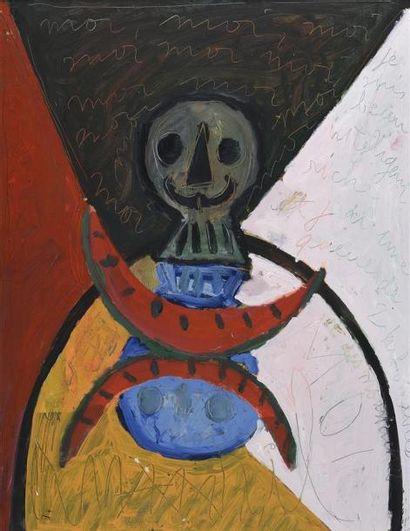 Armand AVRIL (né en 1926) Vanité au crâne...