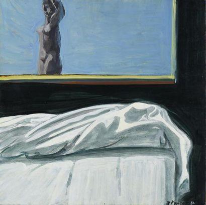 Jacques PONCET (1921-2012) Nu à la fenêtre,...