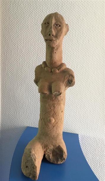BANKONI - MALI Sculpture en terre cuite figurant...