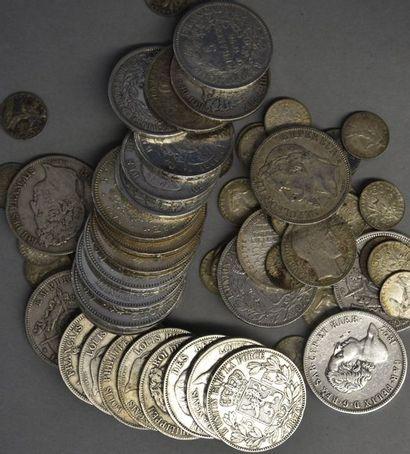 FRANCE   Lot de pièces en argent   Poids...