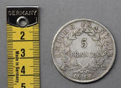 Monnaies - Médailles - Sceaux FRANCE Pièce de 5 Francs en argent, Napoléon Ier tête...
