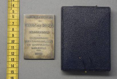 Monnaies - Médailles - Sceaux REPUBLIQUE FRANCAISE Plaque commémorative de l'Exposition...