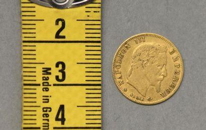 FRANCE Une pièce de 5 Francs en or Napoléon...