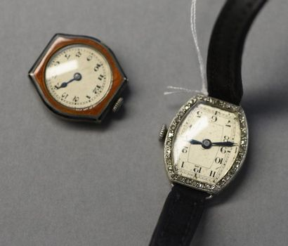 Montre de dame en or vers 1930, bracelet...