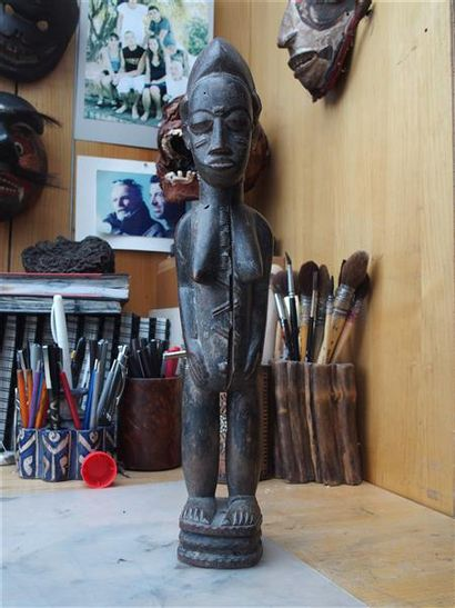 Statuette Baoulé Côte d'Ivoire H. 37 cm Statuette...