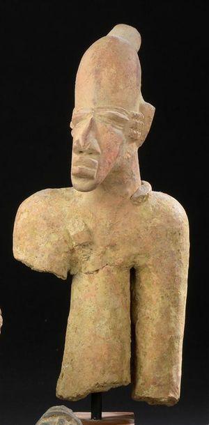 Buste en terre cuite Djenné Mali H. 21 cm...