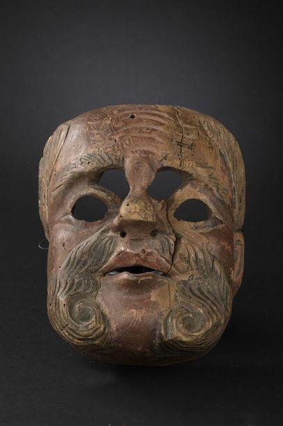 Masque d'espagnol à barbe Guatemala Fin du...