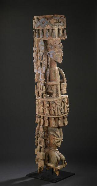 Important poteau Yorouba Nigeria, Ijero-Ekiti...