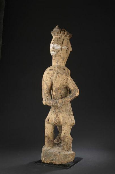 Maternité Urhobo Nigeria H. 84 cm Sculpture...