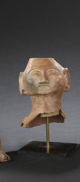 Tête d'homme Culture Huari, sud du Pérou...