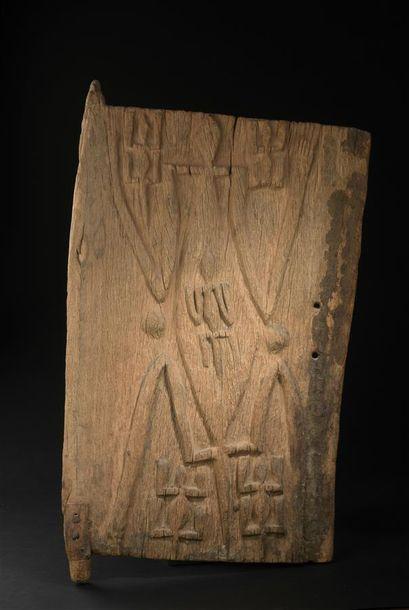 Porte de grenier Dogon Mali H. 78 cm - L....