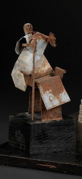 Sculpture en métal Bénin/Nigeria H. 17 cm...