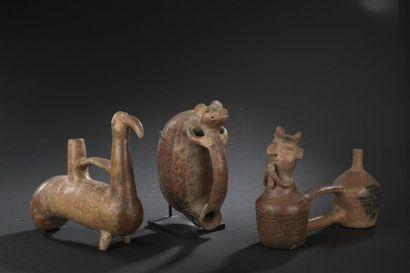 Vase siffleur figurant un rongeur Culture Vicus, Pérou 200 av. J.C. - 100 ap. J.-C....