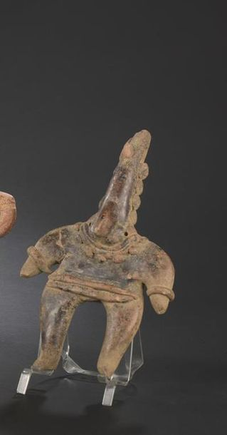 Statuette anthropomorphe Culture Colima,...