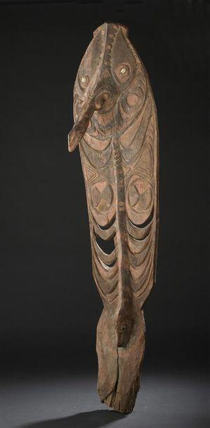 Panneau de case Papouasie Nouvelle-Guinée H. 115 cm Provenance: Galerie Jacques...