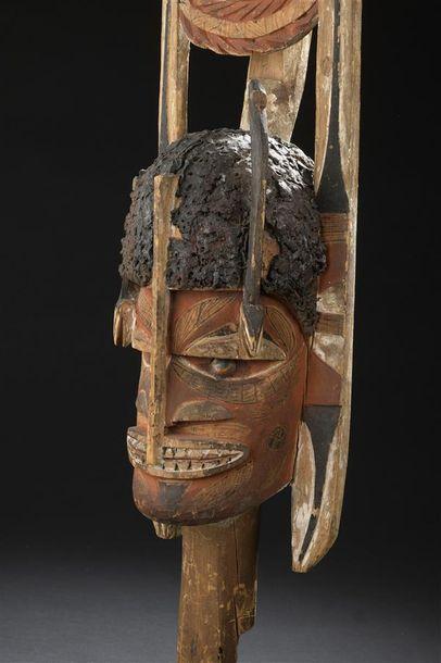 Sculpture Malagan Nord de la Nouvelle-Irlande H. 97 cm Provenance Collecté entre...
