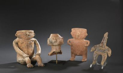 Statuette anthropomorphe Culture Colima, Mexique Protoclassique, 100 av. - 250 ap....