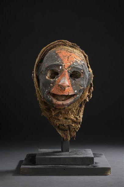 Crâne surmodelé Vanuatu H. 24 cm Ancien crâne...