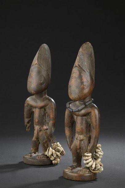 Paire de statuettes Yorouba, Ibeji Nigeria...