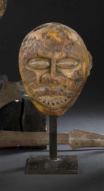 Tête en bois Lobi (?) Burkina Faso H. 14...