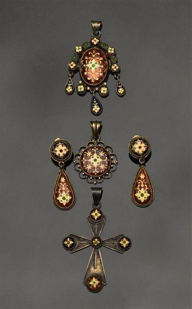 Lot de bijoux Bressans en vermeil et argent...