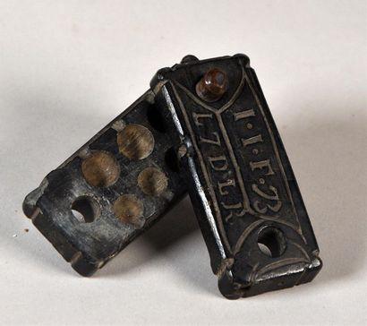 Moule à balles en pierre XVIIIe siècle L....
