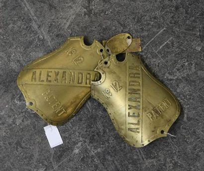 Deux plaques d'écrémeuse Alexandra. On joint...